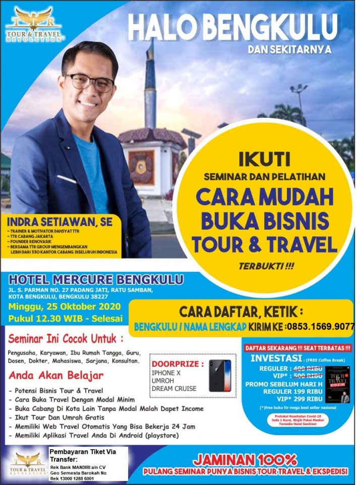 085315699077 Seminar Buka Usaha Tiketing dan Multipayment di Bengkulu