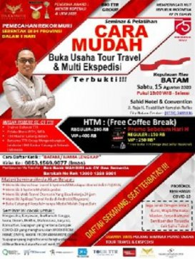 Seminar Tour Travel & Multi Kurir di  Batam
