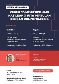 "PORTOCLINIC #1 - WORKSHOP ""Melek Keuangan"""