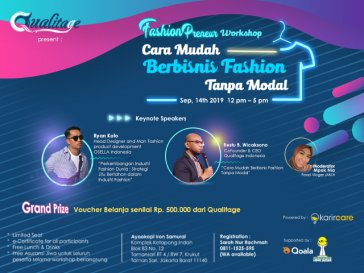 "Fashionpreneur Workshop ""Cara Mudah Berbisnis Fashion Tanpa Modal"""
