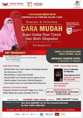 Seminar Tour Travel & Multi Kurir di Pekanbaru