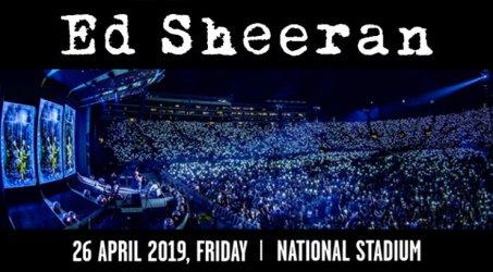 ED SHEERAN DIVIDE WORLD TOUR 2019