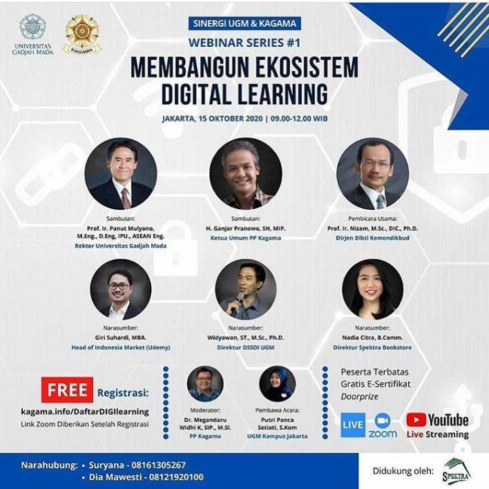 """Webinar KAGAMA  """"Membangun Ekosistem Digital Learning"""""""