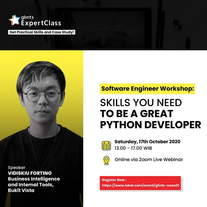 Software Engineering Workshop: Skills You Need to be a Great Python Developer