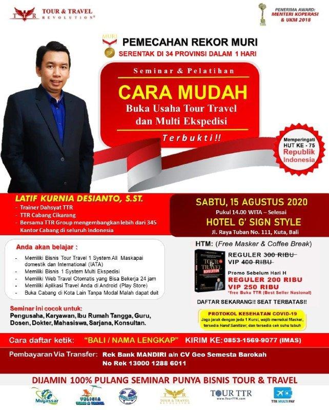 Seminar Tour Travel & Multi Kurir di Bali