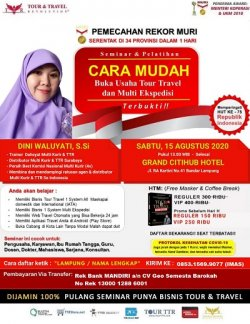 Seminar Tour Travel & Multi Kurir di Bandar Lampung