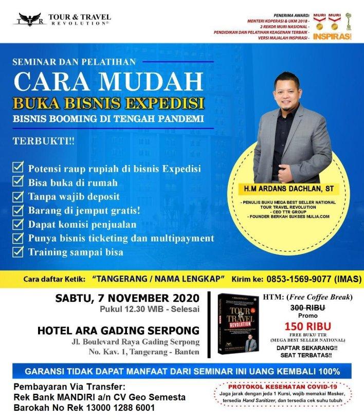 Seminar Bisnis Ekspedisi di Tangerang WA 085315699077 IMAS