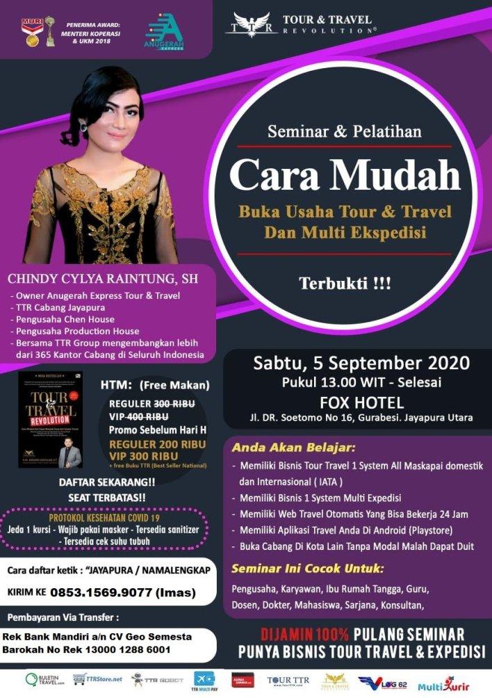 Seminar & Pelatihan Bisnis Tour Travel dan Multi Ekspedisi di Jayapura Papua