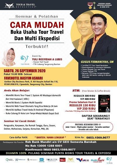 Seminar & Pelatihan Bisnis Tour Travel dan Multi Ekspedisi di Tangerang Banten