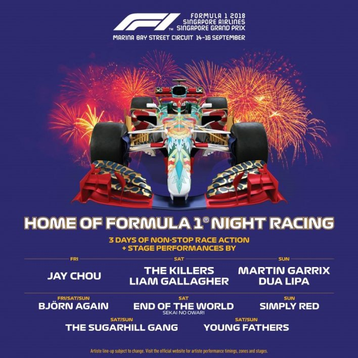 Formula 1 Night Racing Singapore 2018