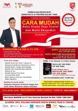 Seminar Tour Travel & Multi Kurir di  Banjarmasin
