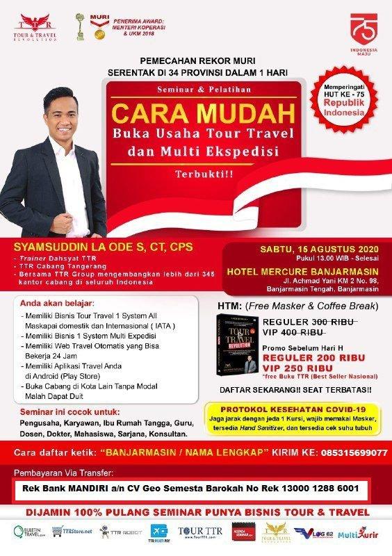 Seminar Tour Travel & Multi Kurir di  Banjarmasin