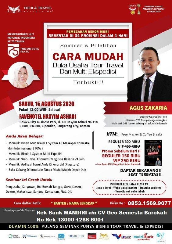 Seminar Tour Travel & Multi Kurir di Banten
