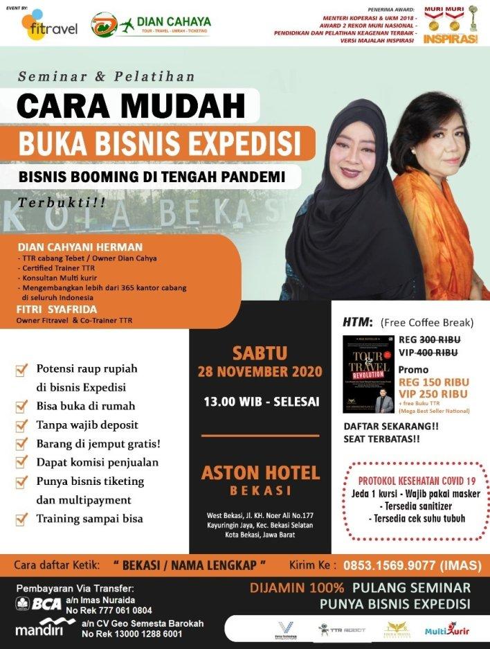 085315699077 Seminar & Pelatihan Buka Bisnis Ekspedisi/ Jasa Pengiriman Barang di Bekasi