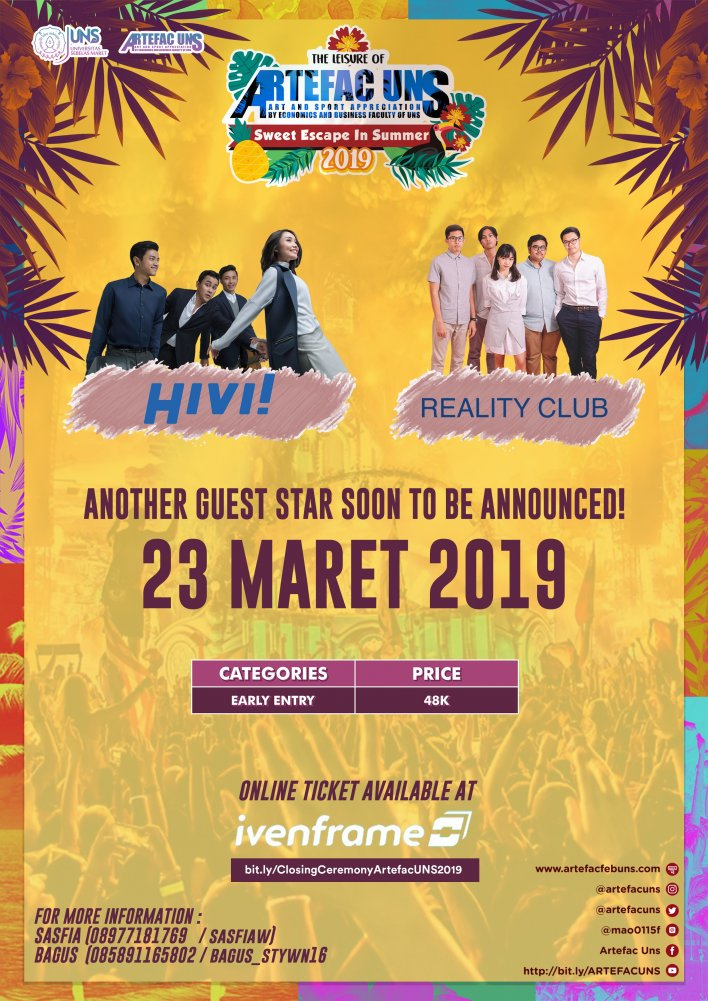 Closing Ceremony Artefac UNS 2019 - Early Entry