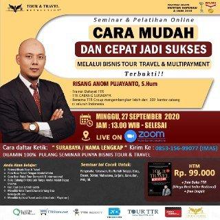 Seminar Online Bisnis Tour Travel & Miniplayment