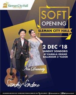 Soft Opening Sleman City Hall with Sandy Sandhoro