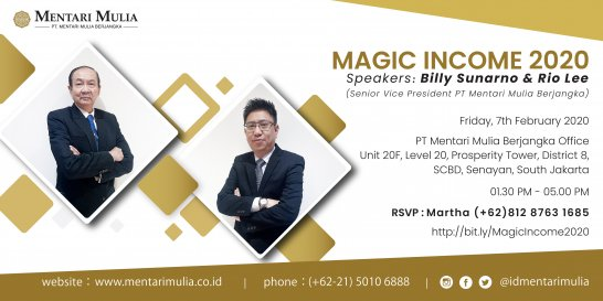 "Seminar Finansial ""Magic Income 2020"""