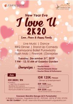 I Love U 2K20 - New Year Eve 2020 Yogyakarta