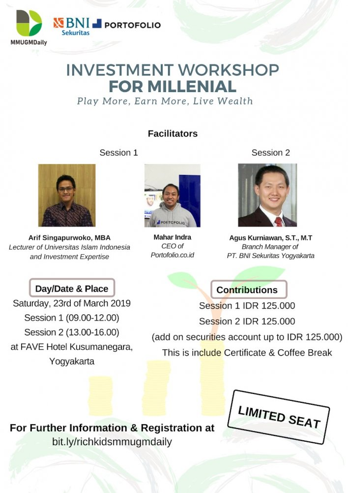 Workshop Financial Investment for Millennial