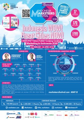 The 6th Annual Indonesia Marketeers Festival 2018 in Palembang
