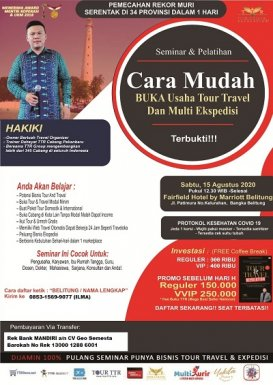 Seminar Tour Travel & Multi Kurir di Bangka Belitung