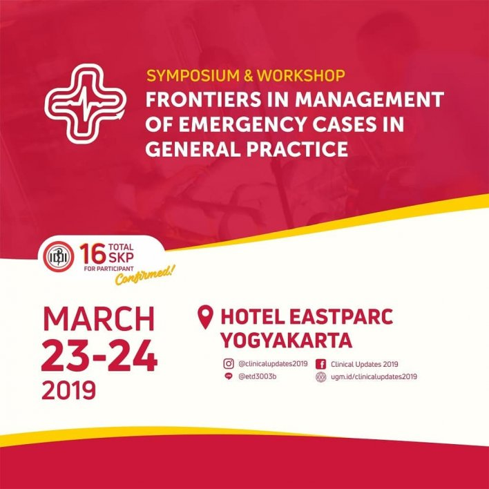 """Clinical Updates 2019: """"Frontiers in Management of Emergency Cases in General Practice"""""""